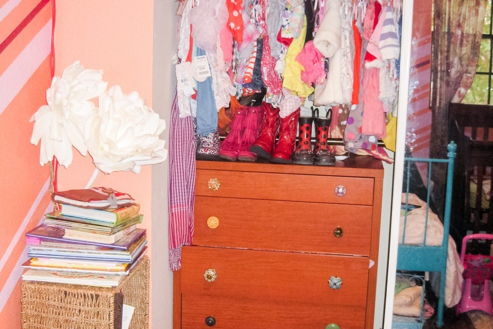 Before: Combining Kids Closets