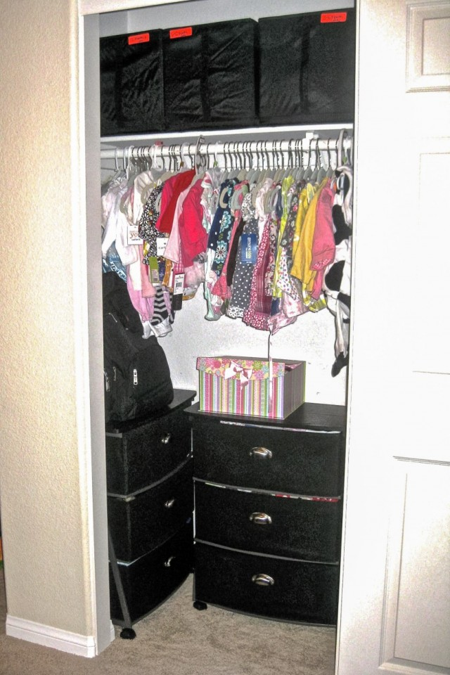 After: Organizing Kid's closet