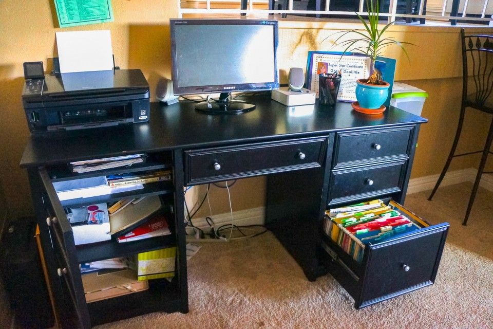 After: Workspace reorganized